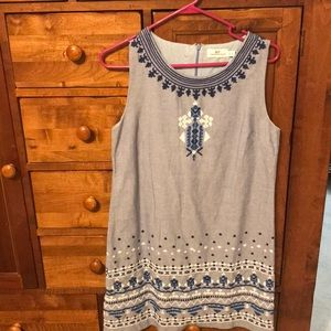 Vineyard vines chambray embroidered dress